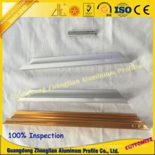 Profil en aluminium avec usinage CNC