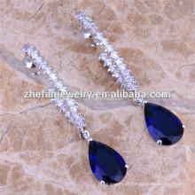 Sapphire cz diamante brinco china jóias atacado