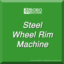 Machine de fabrication de jante de roue en acier pour la roue de voiture sans chambre à air et la fabrication de roues de tracteur.