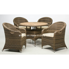 Outdoor-Rattan Patio Wicker Gartenmöbel Ess-Set