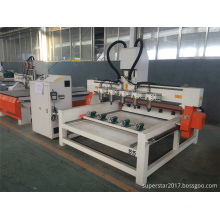 cnc multi-head round chair legs woodworking machine