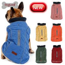 Veste de chien d'animal familier de conception rétro gilet gros chien vêtements hiver