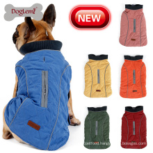 Retro Design Dog Pet Jacket Vest Big Dog Clothes Winter