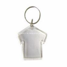 Werbe Acryl Tuch Form Flip Schlüsselanhänger
