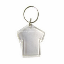 Promotional Acrylic Cloth Shape Flip Keychain