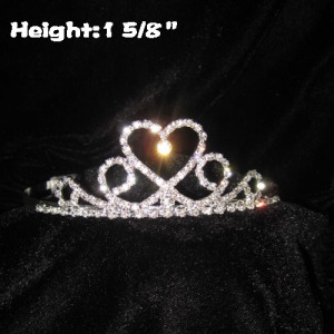 Wholesale Crystal Heart Shaped Baby Tiaras