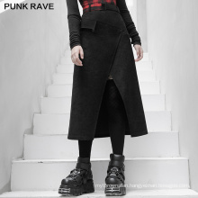 Punk style winter women skirt high waist A line mid length good quality skirts OPQ-890BQF lady clothes wholesale price PUNK RAVE