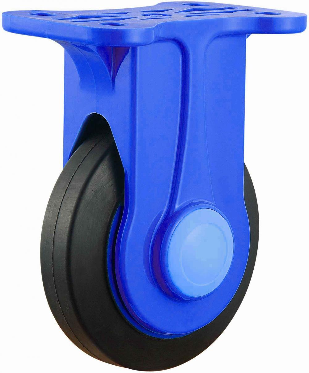 Platform Trolley Nylon Bracket Quiet Rubber Caster Fixed