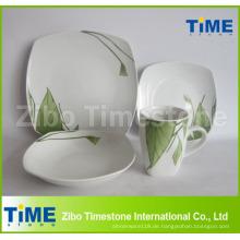 Quadratische Form Porzellan Aufkleber Dinner Set