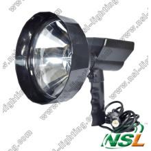 Projecteur extérieur HID de diamètre d'objectif 35W/55W 240mm, lumière de recherche de chasse rechargeable