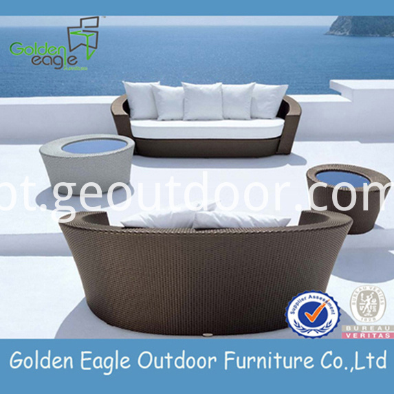PE Wicker Garden Sofa Furniture