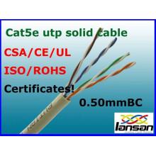 Hochwertiges Indoor 4 Paar Cat5e Kabel LSZH Twisted Pair Lan Kabel / Kommunikationskabel