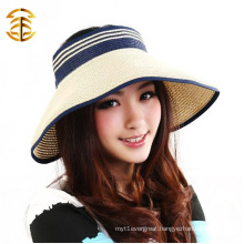 Fashion Wide Brim Cap Casual Summer Sunscreen Women Navy Style Straw Hat