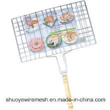 Grande grade portátil para churrasco ao ar livre
