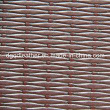Couro semi-plutônio tecido em relevo (QDL-52083)