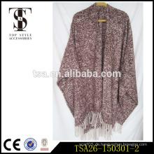 Großhandel indischen Stil High End Schals dicken Schleife Garn Decke Schal hochwertigen Poncho