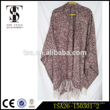 Écharpe haut de gamme en gros de style indien épaule épais écharpe écharpe poncho de haute qualité