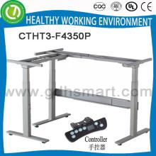 taille adaptée aux besoins du client taille cadre de table réglable avec panneau stratifié blanc de 16mm mdf vers le haut et vers le bas pied de table