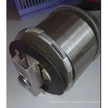 Cuña de alambre Cap de agua / Wire Wrapped Filter Tube