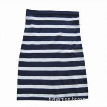 Ladies' Knit Sweater Skirt with Stripes