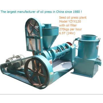 Pressão do óleo do parafuso 6.5ton uma imprensa do óleo do soybean do dia