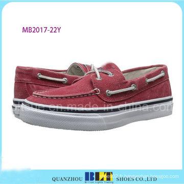 Chaussure rouge de bateau de loisirs pour les hommes