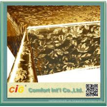 Modernes Design Gold Farbe PVC Tischdecke Made in China