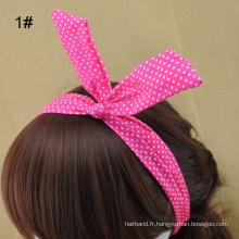 Bandeaux d'oreilles en lapin Bandes de cheveux