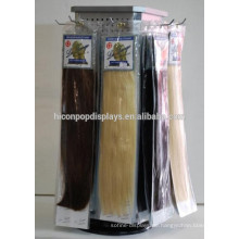 Fashion Hair Salon Commercial Pegboard Drehtisch Top Metall 4-Way 30Cm Haarverlängerung Display
