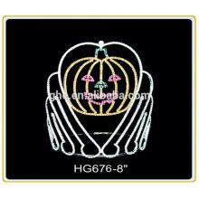 Vente chaude usine directement des anneaux de mariage dans une couronne