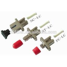 Adaptadores híbridos de fibra óptica SC / ST / LC / FC SM / MM simples o dúplex
