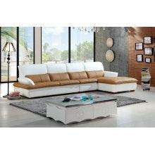 Sofá de cuero de estilo moderno de Europa, muebles para el hogar (928)