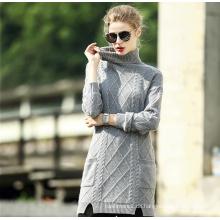 Frauen reiner Kaschmir Stehkragen Pullover (13brdw140)