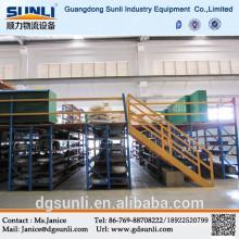 Box beam pallet racking construction mezzanine industrial steel platform