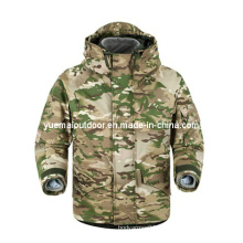 Military Multicamo Ecwcs Parka with Detachable Fleece Liner