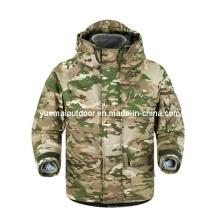 Militar Multicamo Ecwcs Parka com forro de lã destacável