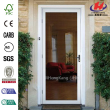 White Surface Mount Outswing Security Door