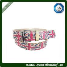 American Style imprimé embossé Wide Fashion Pin Buckle Ceinture / cinto de couro pour hommes