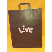 shopping bag con manico piatto