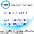 International Forwarding dari Shezhen ke Guayaquil