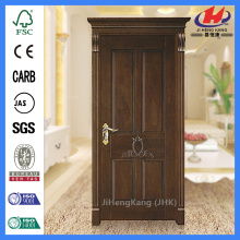 JHK-004P Natural Brich 4 Panel  Laminate Wood Door  Design