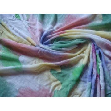 Spun Silk Viscose Jersey Tela 30% Lã 70% Viscose
