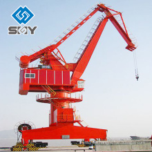 High quality 40ton grab bucket four link portal crane used in port seaside More questions, please send message to us!