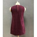 robe sans manches en tweed pour femme