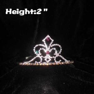 Small Crystal Fleur De Lis Pageant Crowns