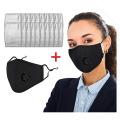 Cubierta facial de algodón lavable de carbón activado PM2.5