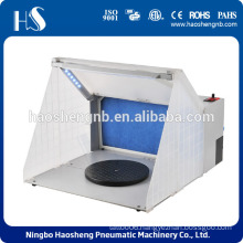 China factory airbrush hobby spray tool kit with led light mini mobile spray booth