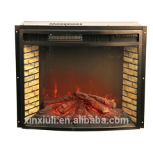 IF-1523 Curved Steel Decorative Electric Fireplace Insert Heater