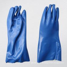 13G Jersey Liner Sandy Finish PVC recubierto de guantes químicos (5134)