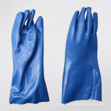 13G Jersey Liner Sandy Finish PVC Coated Chemical Glove (5134)